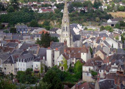 Vue sur le ville d'Argenton-sur-Creuse