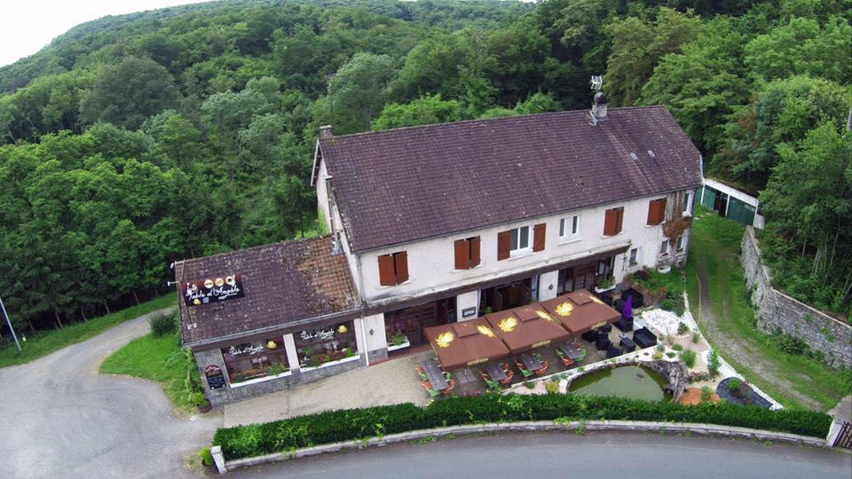 Vue aérienne de La Table d'Angèle - Eguzon