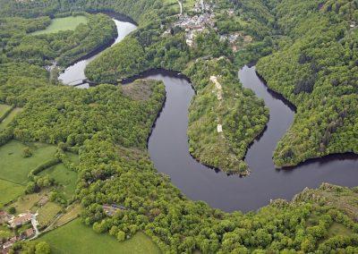 Vue aérienne de Crozant